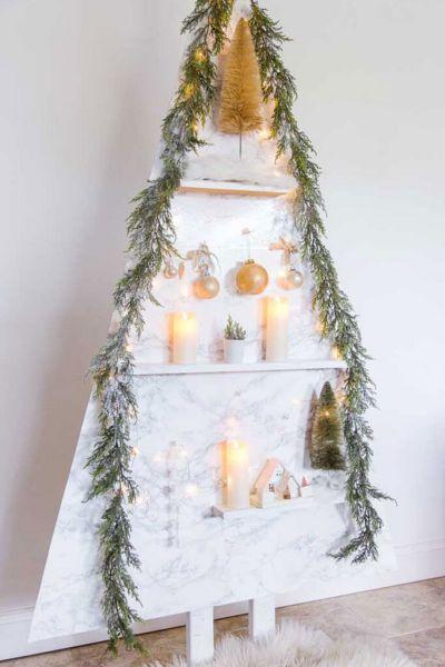 DIY Modern Wood Christmas Tree