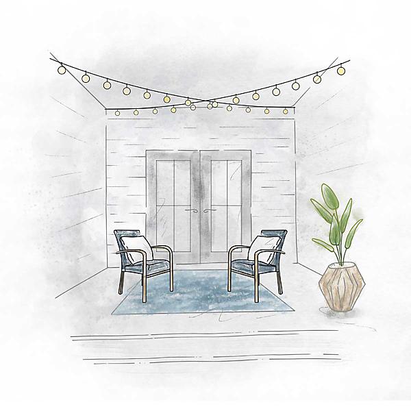 Hidden Porch Lights