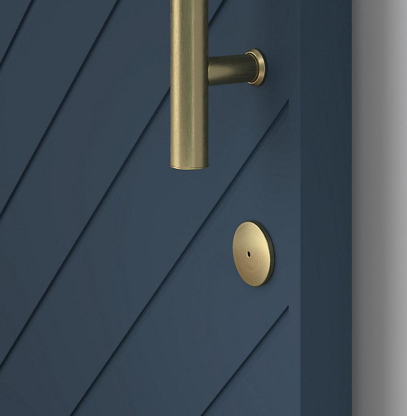 Brushed Gold Barn Door Lock