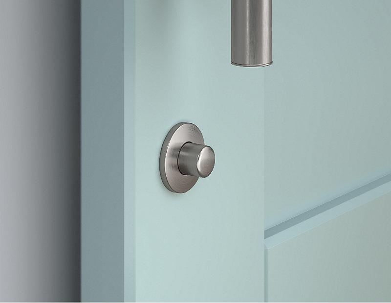 Satin Nickel Barn Door Lock