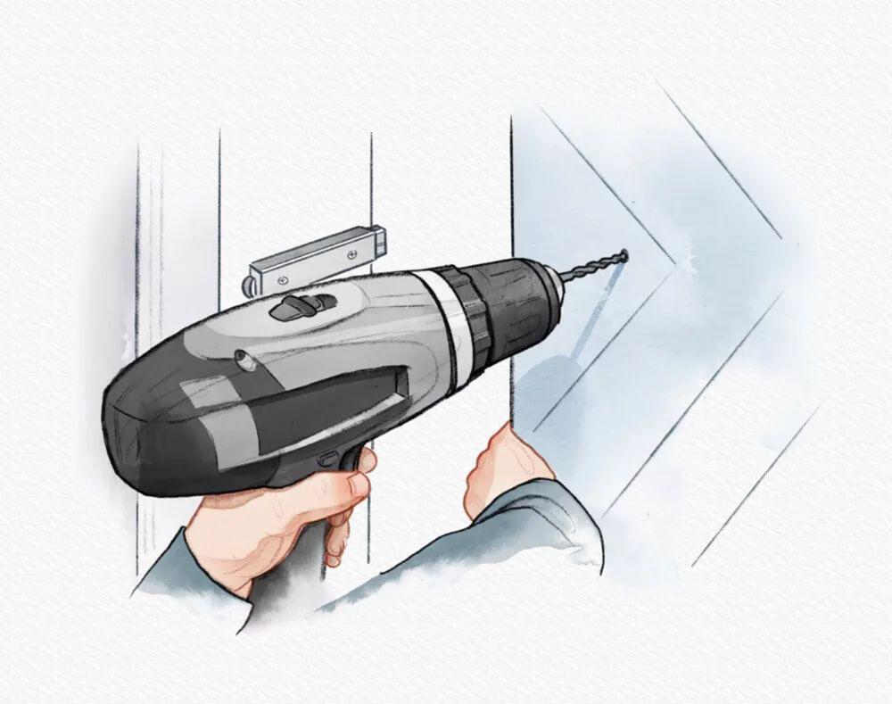 Drill on Barn Door