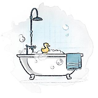 Bathtub Illustration