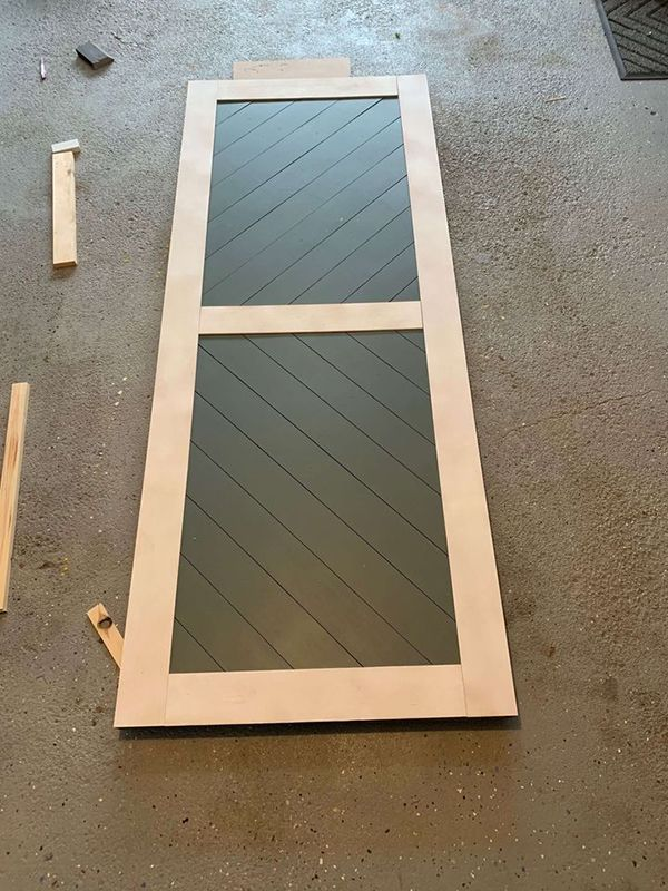 Assemble the Modern Barn Door