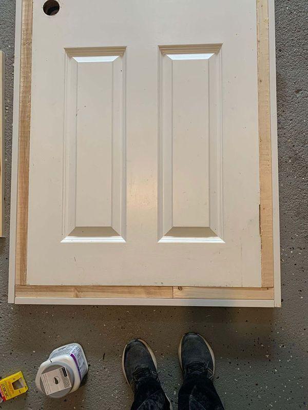Add height and width to the original door