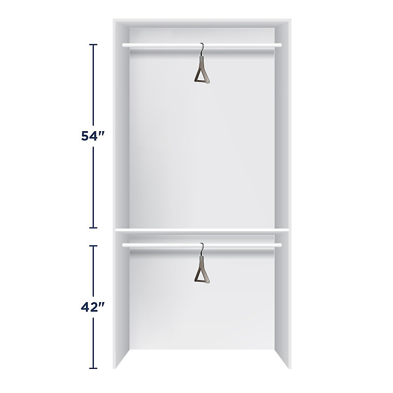 Height for Closet Rods - Double