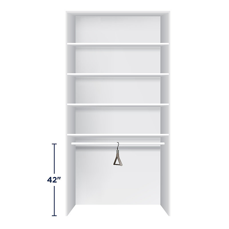 Height for Closet Rods - short