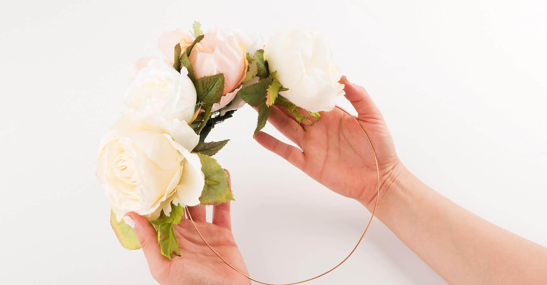 DIY Flower Crown for Less!