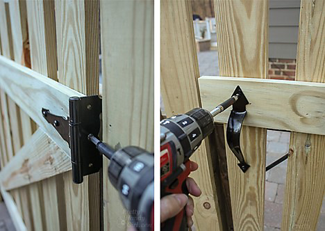 Gate Hinge and Pull