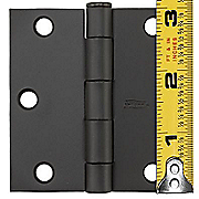 hinge with ruler