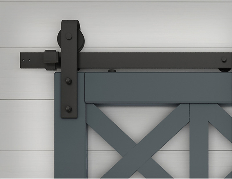 Premium Matte Black Barn Door Track