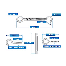 Supplementary Image for Hooks/Eye Turnbuckle