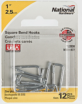 PackagingImage for Square Bend Hooks