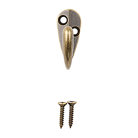 Clipped Image for Single Prong Robe Hook