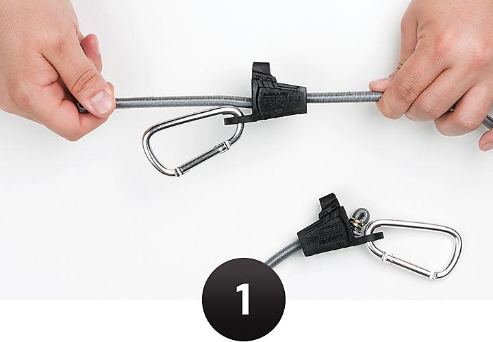 Adjusting bungee cord length
