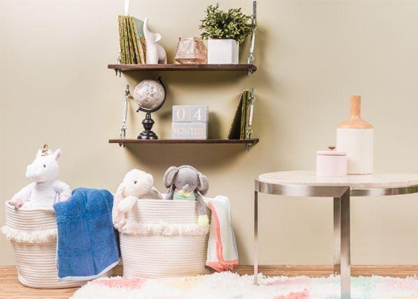 DIY Turnbuckle Shelves for Less